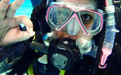 Second day of PADI Open water scuba diving course – Trying out gear and diving