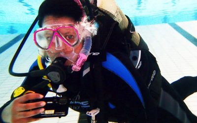 Fifth day of PADI Open water scuba diving course – Final pool dive