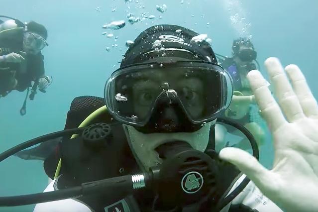 Scuba diving in the Red Sea, El Gouna, Egypt