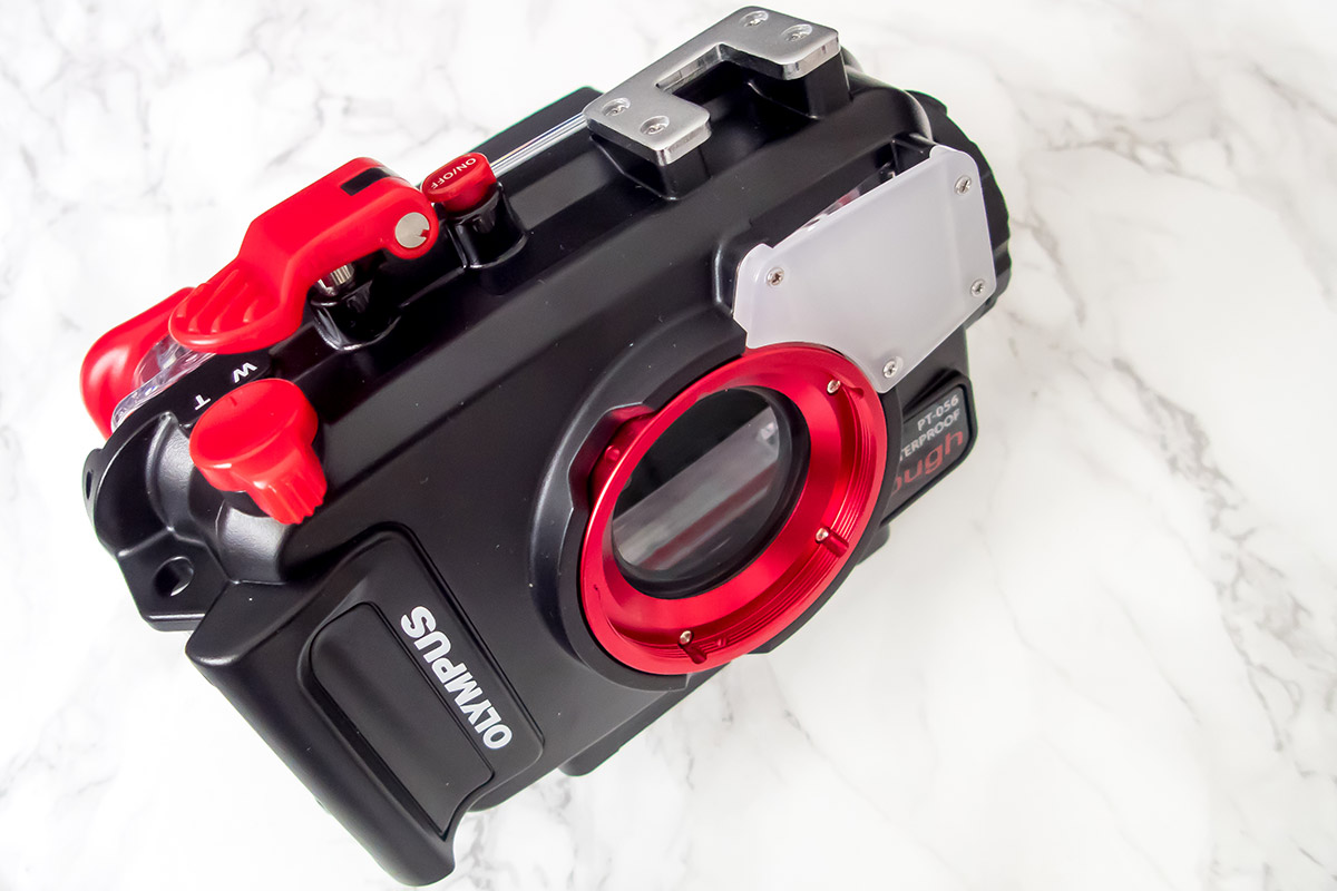 Olympus PT 056, underwater house for Olympus Tough TG-4 | Unboxing